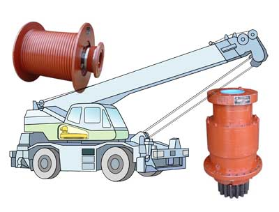 All Terrain Mobile Cranes, LBW Winch Drives, LBS Swing Drives